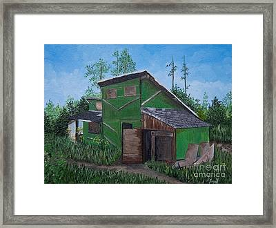 The House That Hans Built Framed Print by Reb Frost