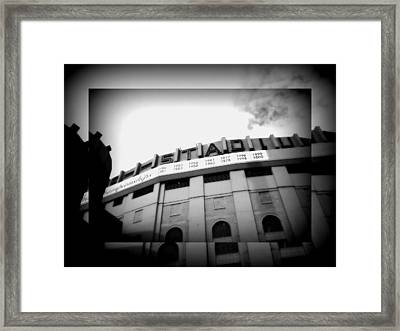 Framed Print featuring the photograph The House That Ruth Built B/w Collage by Aurelio Zucco