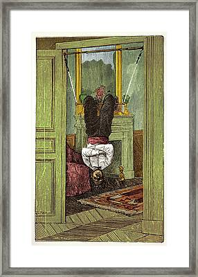 The House Trapeze Framed Print by David Parker