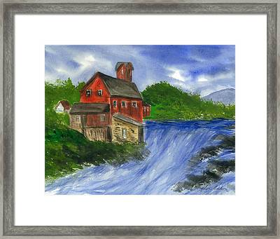 The House We Call Home Framed Print by Karen  Condron