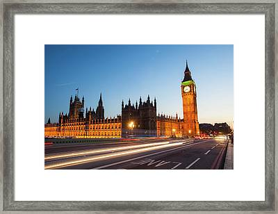 The Houses Of Parliament And Big Ben Framed Print