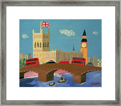 The Houses Of Parliament Collage Framed Print by William Cooper