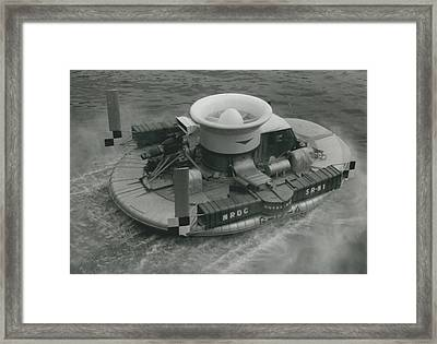 The �hovercraft� Shows Of Its Paces On The Thames Framed Print by Retro Images Archive