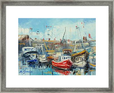 The Howth Harbour Framed Print