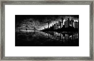 The Hubris Of Mankind Bw Framed Print by Angelina Vick