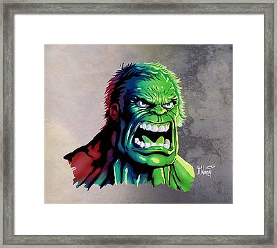 The Hulk Framed Print by Anthony Mwangi