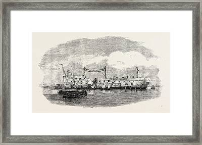 The Hulk Blake At Spithead 1854 Framed Print by English School