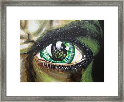The Hulk Framed Print by Danny Anderson