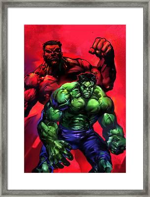 The Hulks Framed Print by Ashraf Ghori