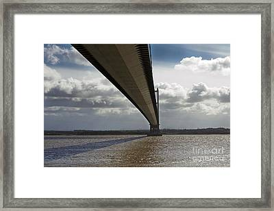 The Humber Bridge Framed Print by Andrew Barke