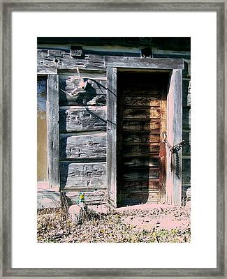 The Hundred Year Old Door Framed Print