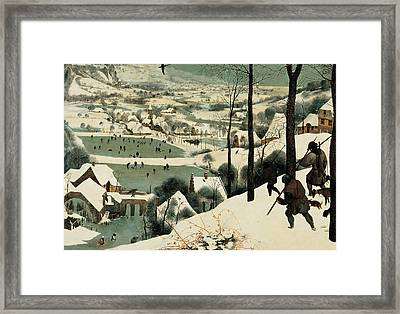 The Hunters In The Snow Framed Print by Jan the Elder Brueghel