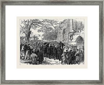 The Hunting Disaster In Yorkshire The Funeral Of Sir Framed Print by English School