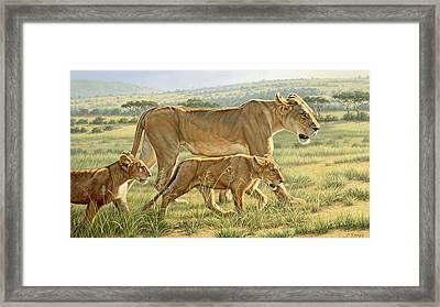 The Hunting Lesson Framed Print by Paul Krapf