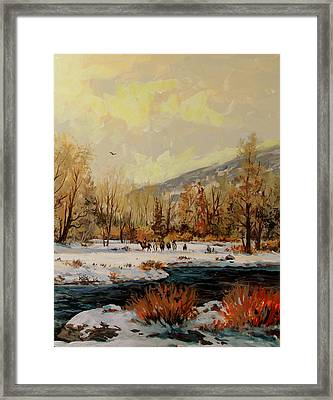 The Hunting Party Framed Print by W  Scott Fenton
