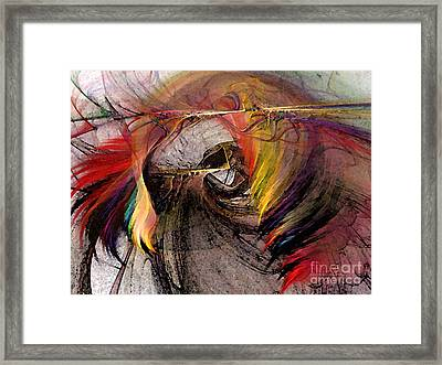 The Huntress-abstract Art Framed Print by Karin Kuhlmann