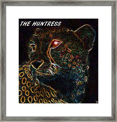 The Huntress Text Work A Framed Print by David Lee Thompson