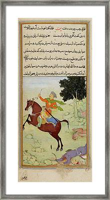 The Huntsman Riding Away Framed Print by British Library