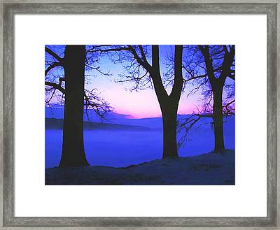 Framed Print featuring the painting The Hush At First Light by Sophia Schmierer