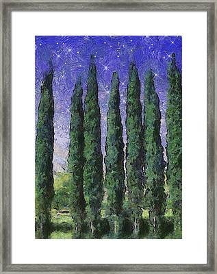 The Hushed Poetry Of Trees In The Night Framed Print by Wendy J St Christopher