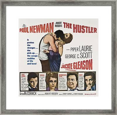 The Hustler, Us Poster, Top From Left Framed Print by Everett