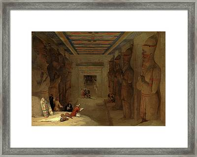 The Hypostyle Hall Of The Great Temple At Abu Simbel Framed Print by Litz Collection