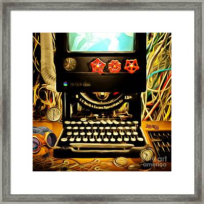 The I-steampunk One 20150303 The New Steam Revolution Has Begun -square  Framed Print by Wingsdomain Art and Photography