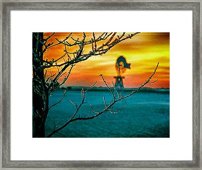 The Ice And The Windmill Framed Print