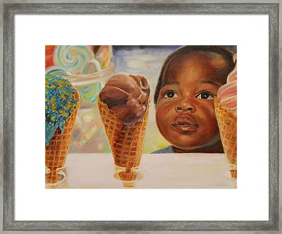 The Ice Cream Shop Framed Print
