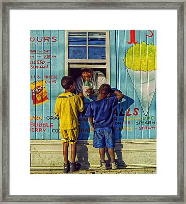 The Ice Cream Shop Framed Print by Mountain Dreams