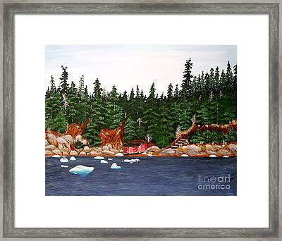 The Ice Took It Framed Print by Barbara Griffin