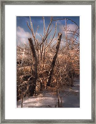 The Ice Will Cometh Again Framed Print