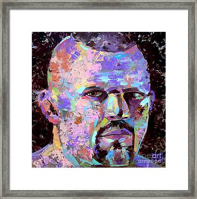 Framed Print featuring the painting The Iceman Chuck Liddell by Robert Phelps
