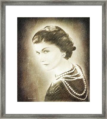 The Icon Of Elegance Framed Print