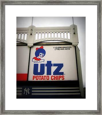 The Iconic Utz Sign Framed Print