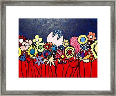 The Ideal Flower Garden Framed Print