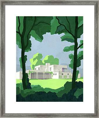The Ideal House In House And Gardens Framed Print by Witold Gordon