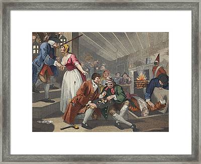 The Idle Prentice Betrayed Framed Print by William Hogarth