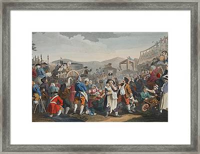 The Idle Prentice Executed At Tyburn Framed Print by William Hogarth