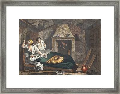 The Idle Prentice Returned From Sea Framed Print