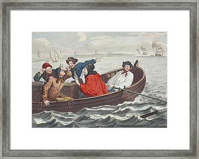 The Idle Prentice Turned Away And Sent Framed Print by William Hogarth