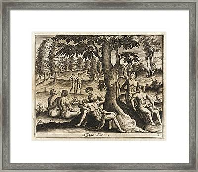 The Idyllic Period Of Human  History Framed Print by Mary Evans Picture Library