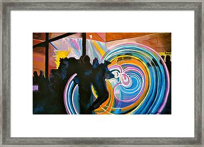 The Illuminated Dance Framed Print