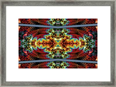 Framed Print featuring the digital art The Illusion Of Depth by Lea Wiggins