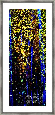 The Illusion Of Trees Framed Print