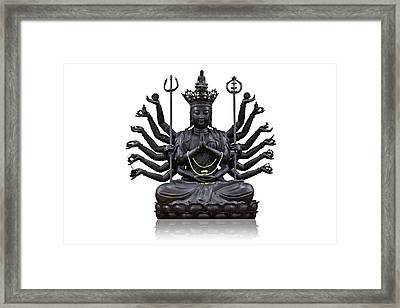 The Images Of Guanyin Black Framed Print