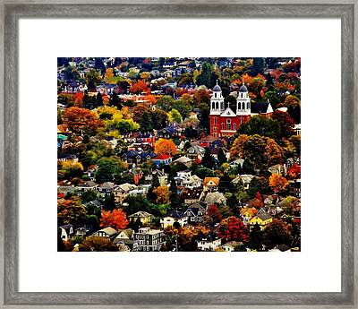 The Immaculate Conception Church Of Seattle Framed Print by Benjamin Yeager