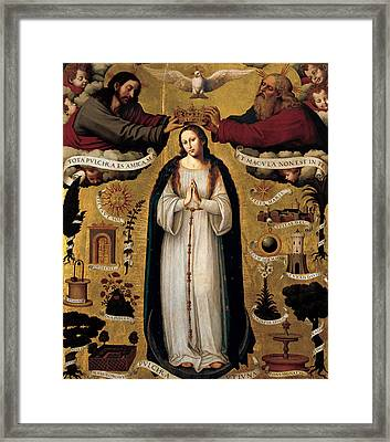 The Immaculate Conception Framed Print by Juan de Juanes