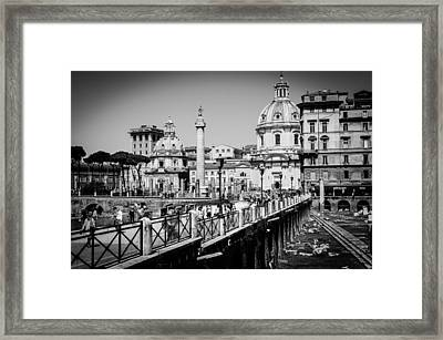 The Imperial Fora Framed Print by Andrea Mazzocchetti
