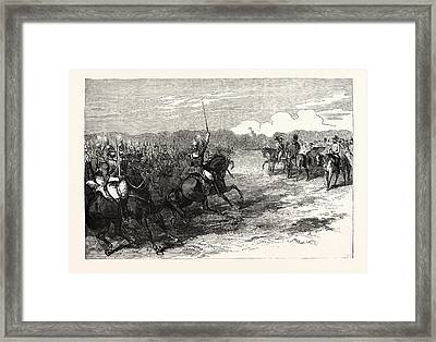 The Imperial Visit Review Of The Household Troops Framed Print